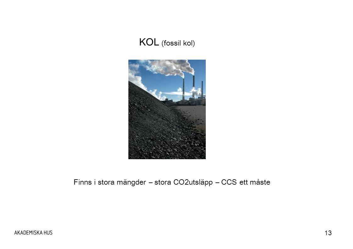 Finns i stora mängder – stora CO2utsläpp – CCS ett måste