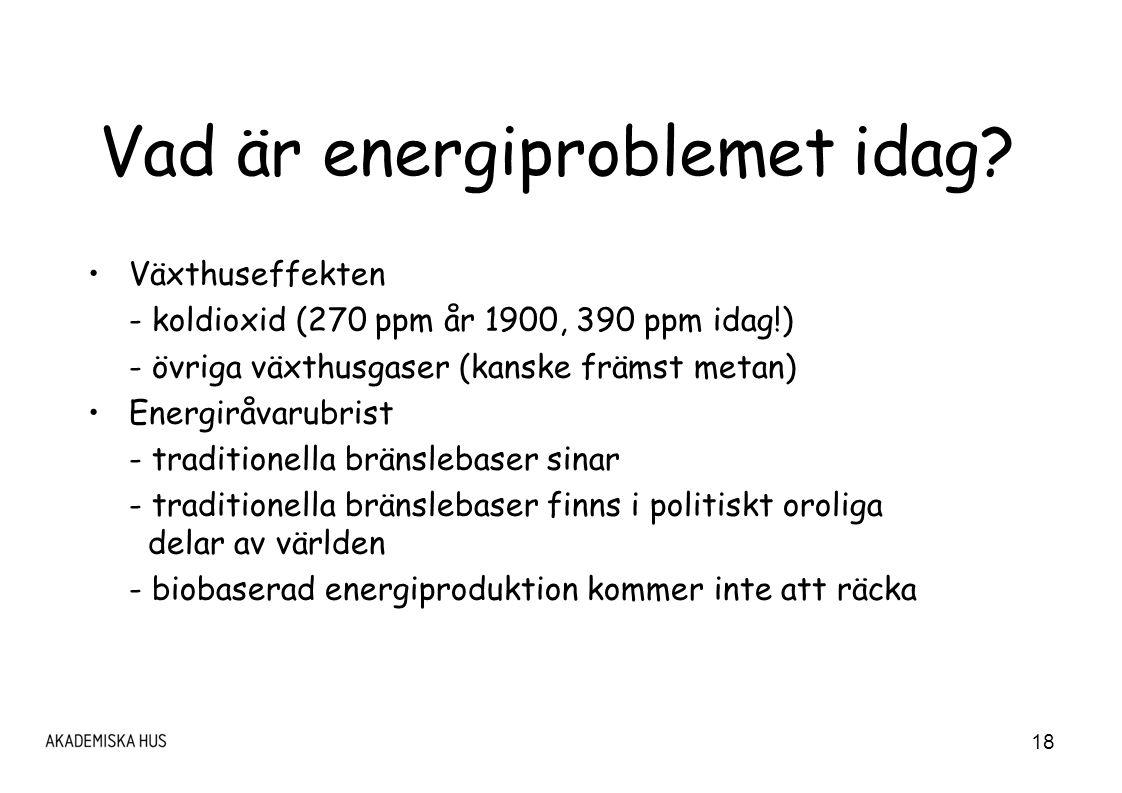 Vad är energiproblemet idag