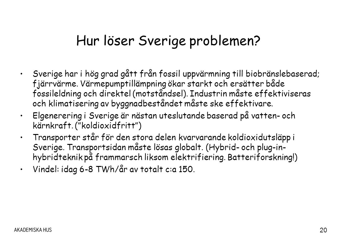 Hur löser Sverige problemen