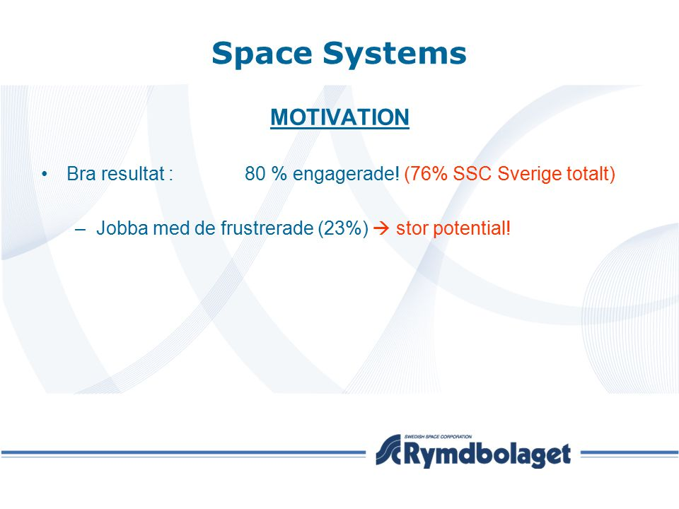 Space Systems MOTIVATION