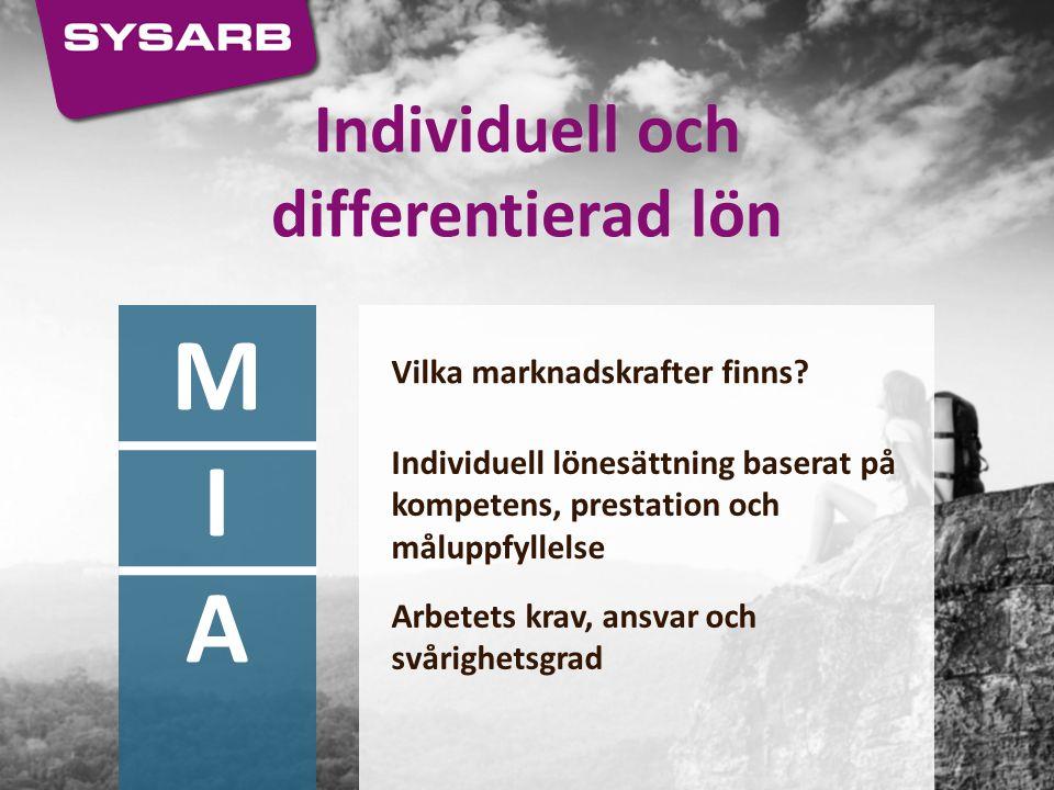 Individuell och differentierad lön