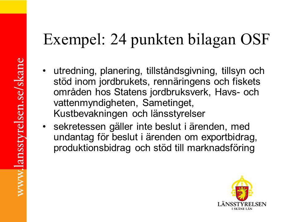 Exempel: 24 punkten bilagan OSF