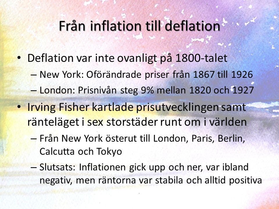Från inflation till deflation