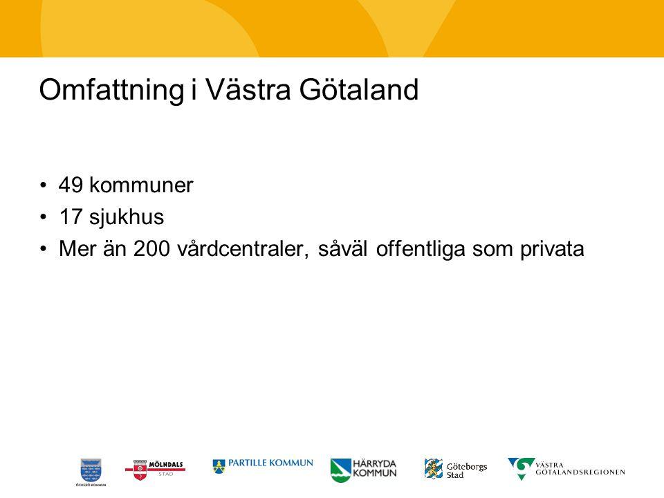Omfattning i Västra Götaland