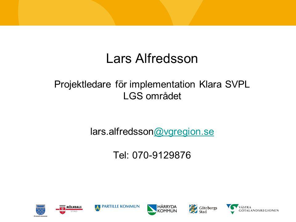 Projektledare för implementation Klara SVPL