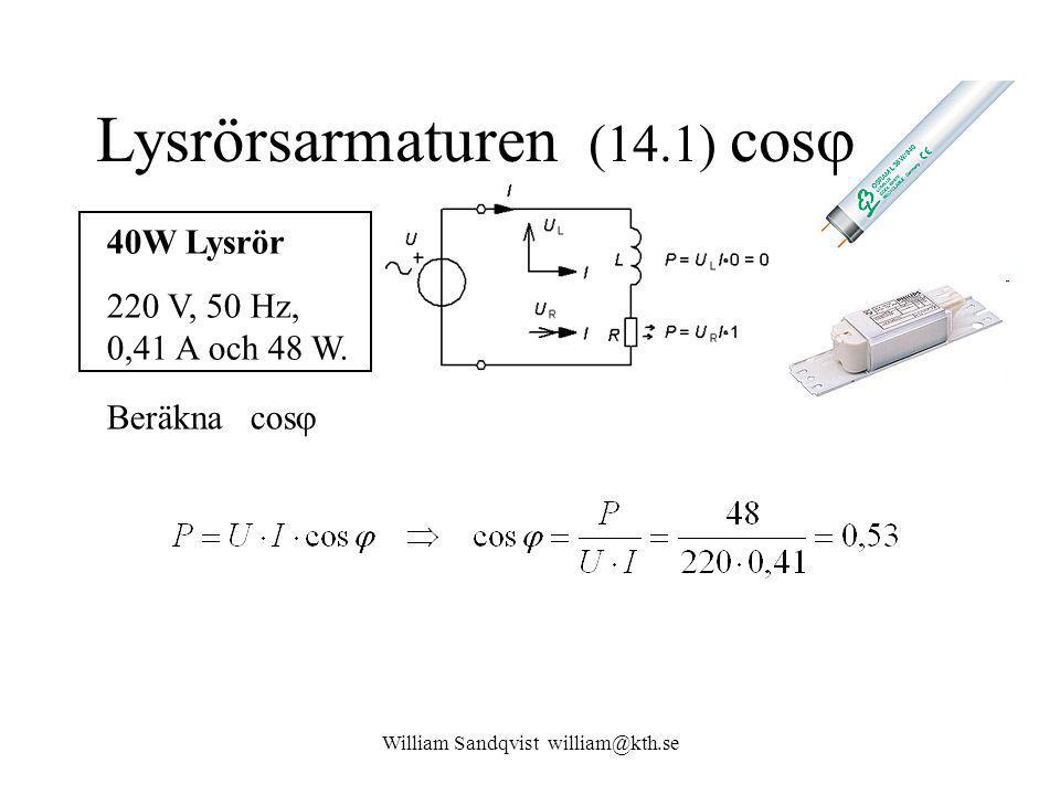 Lysrörsarmaturen (14.1) cos