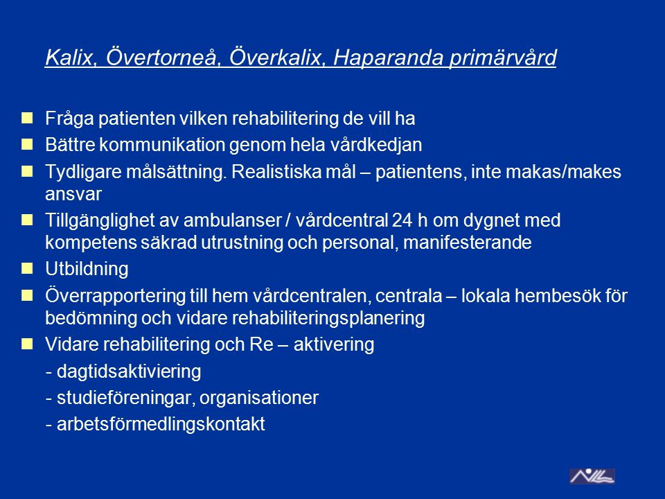 Kalix, Övertorneå, Överkalix, Haparanda primärvård