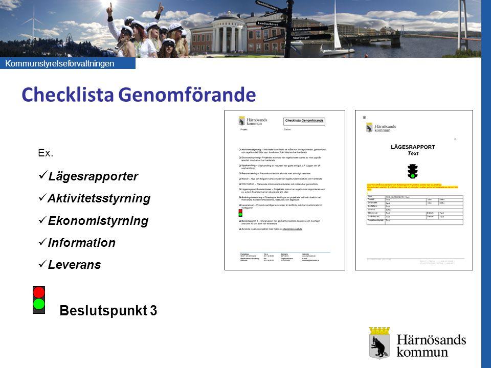 Checklista Genomförande