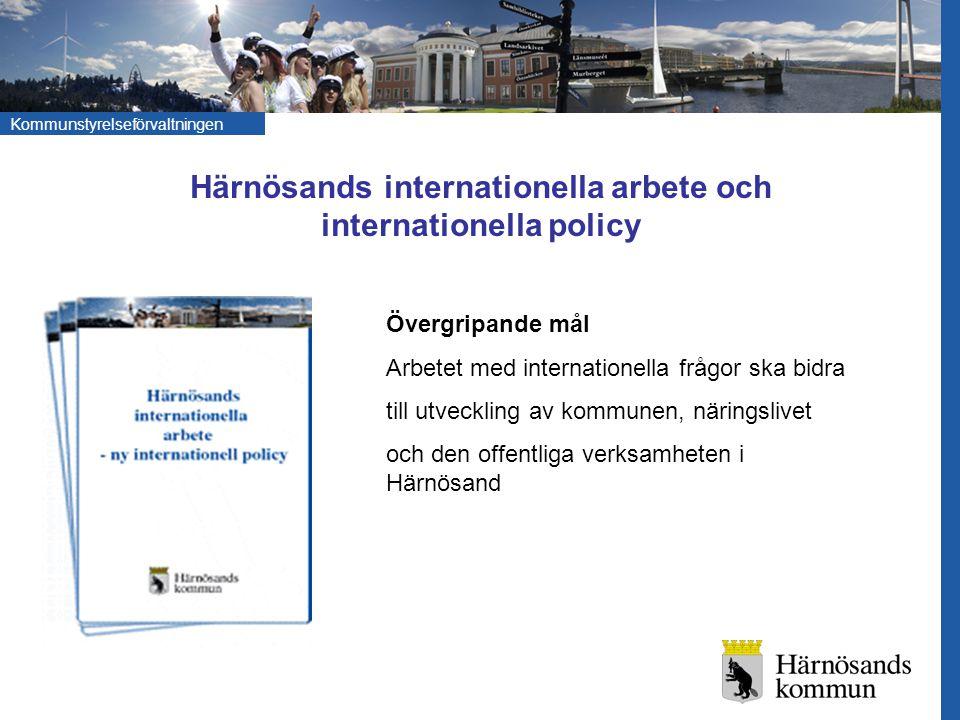 Härnösands internationella arbete och internationella policy