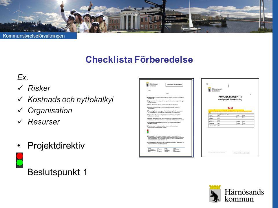 Checklista Förberedelse