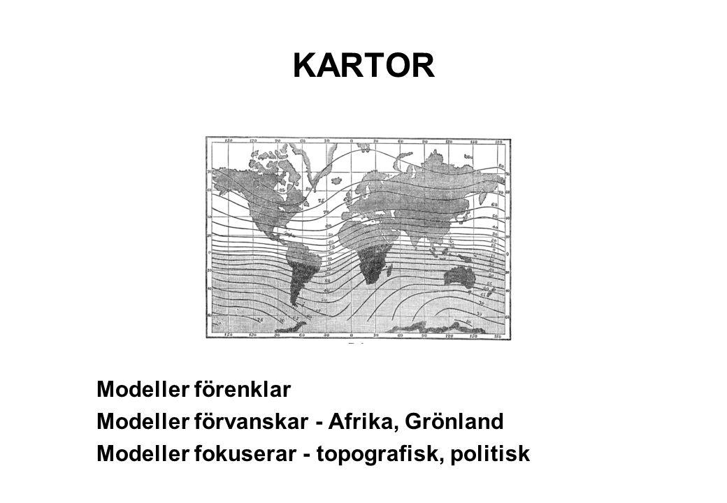 KARTOR Modeller förenklar Modeller förvanskar - Afrika, Grönland