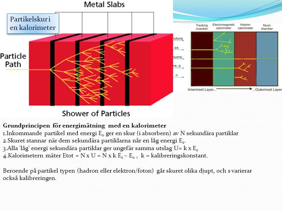 Partikelskur i en kalorimeter