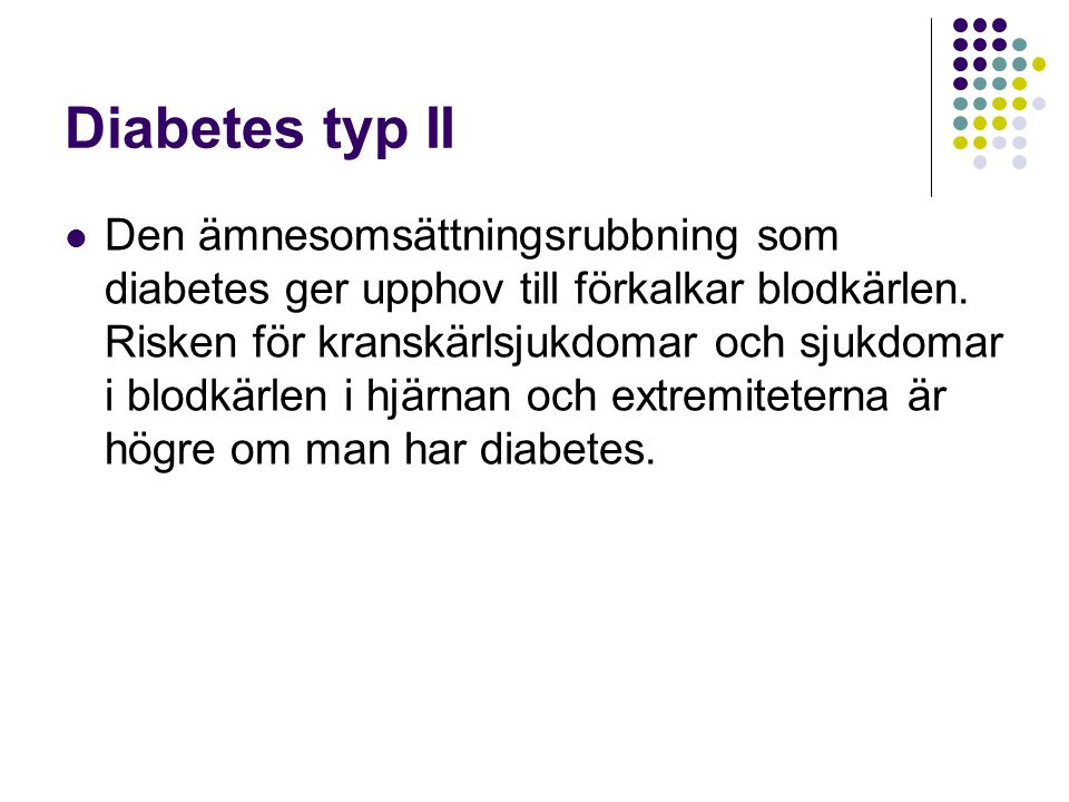 Diabetes typ II