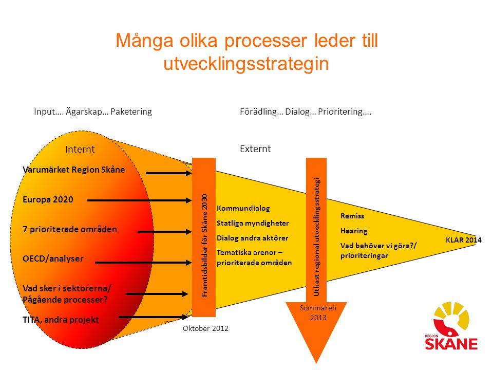 Många olika processer leder till utvecklingsstrategin