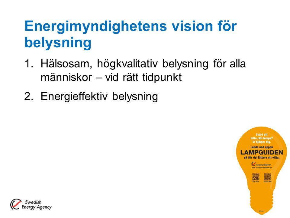 Energimyndighetens vision för belysning