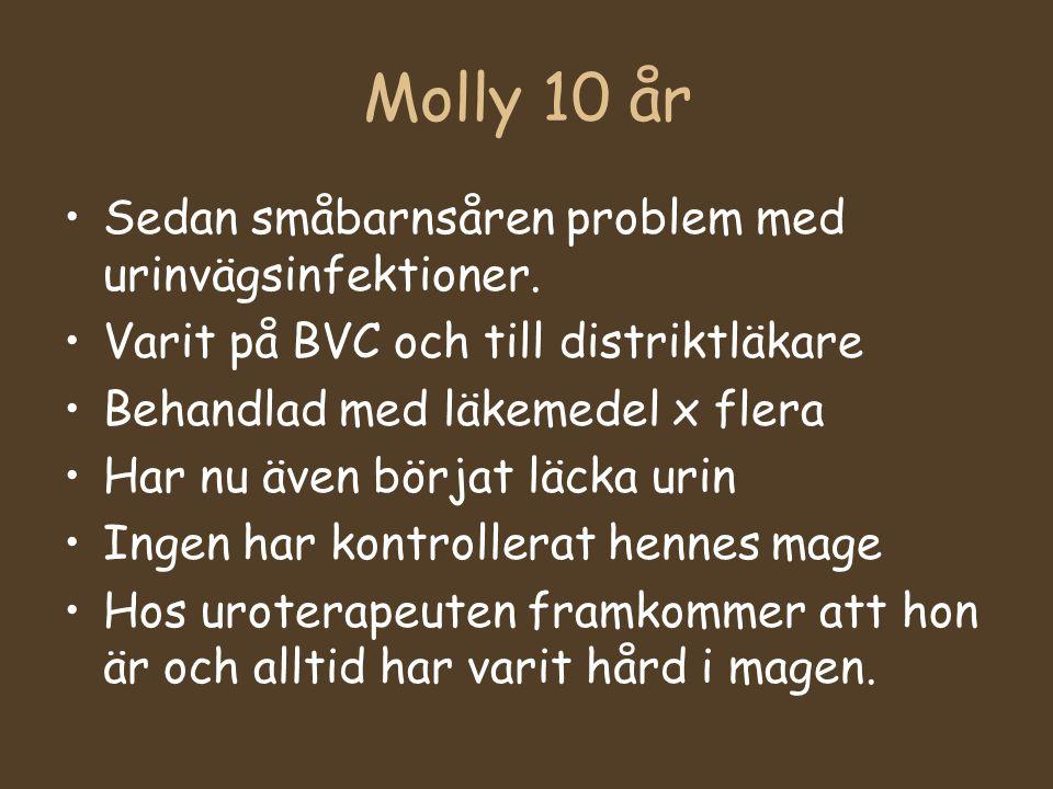 Molly 10 år Sedan småbarnsåren problem med urinvägsinfektioner.