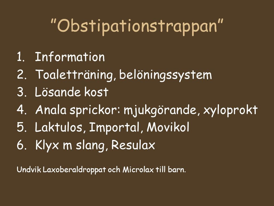 Obstipationstrappan