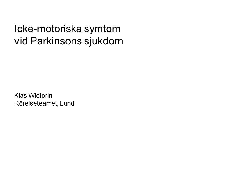 Icke-motoriska symtom vid Parkinsons sjukdom