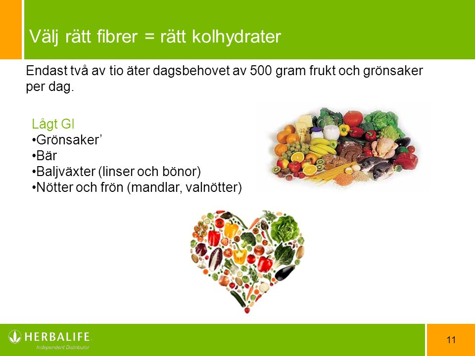Välj rätt fibrer = rätt kolhydrater