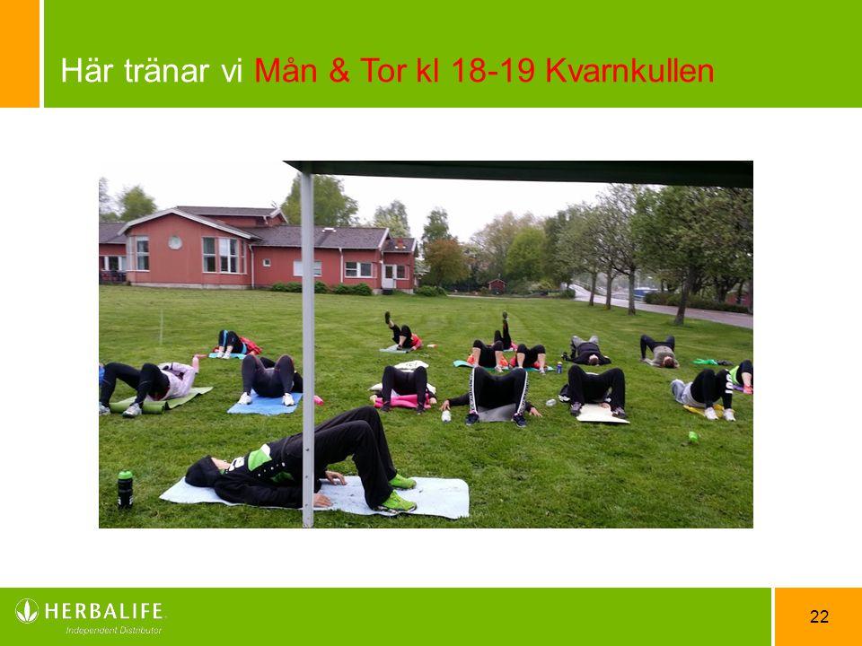 Här tränar vi Mån & Tor kl 18-19 Kvarnkullen