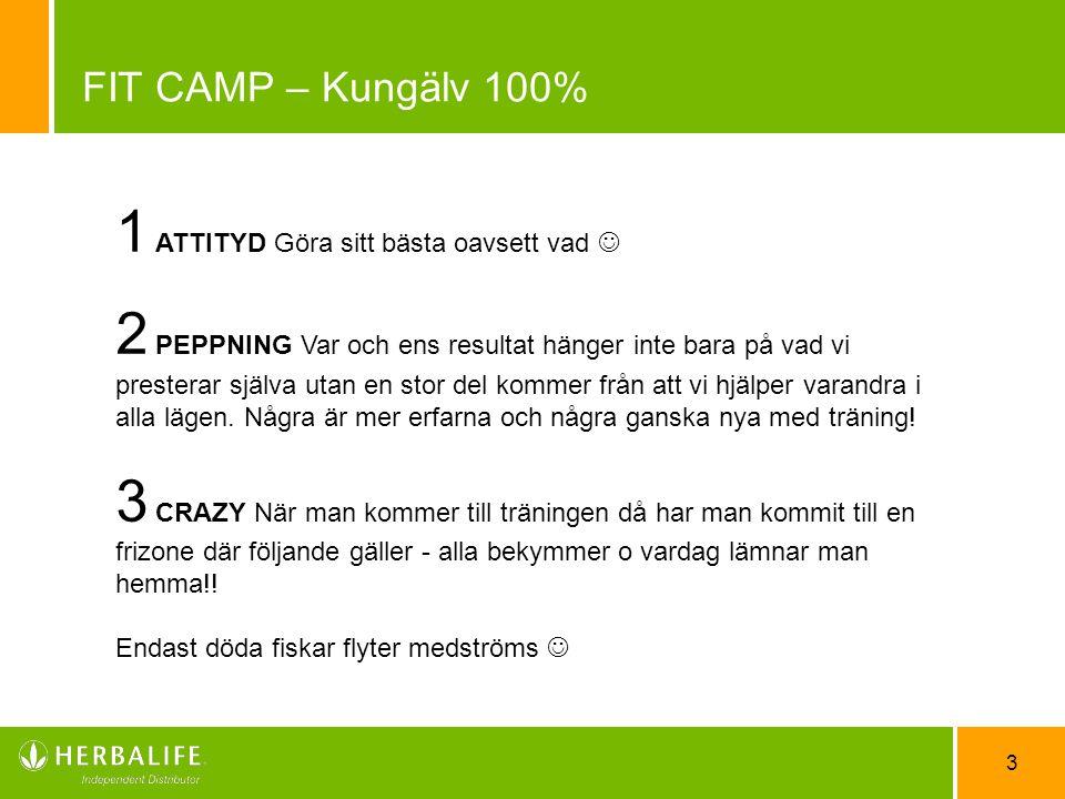 FIT CAMP – Kungälv 100% 1 ATTITYD Göra sitt bästa oavsett vad 