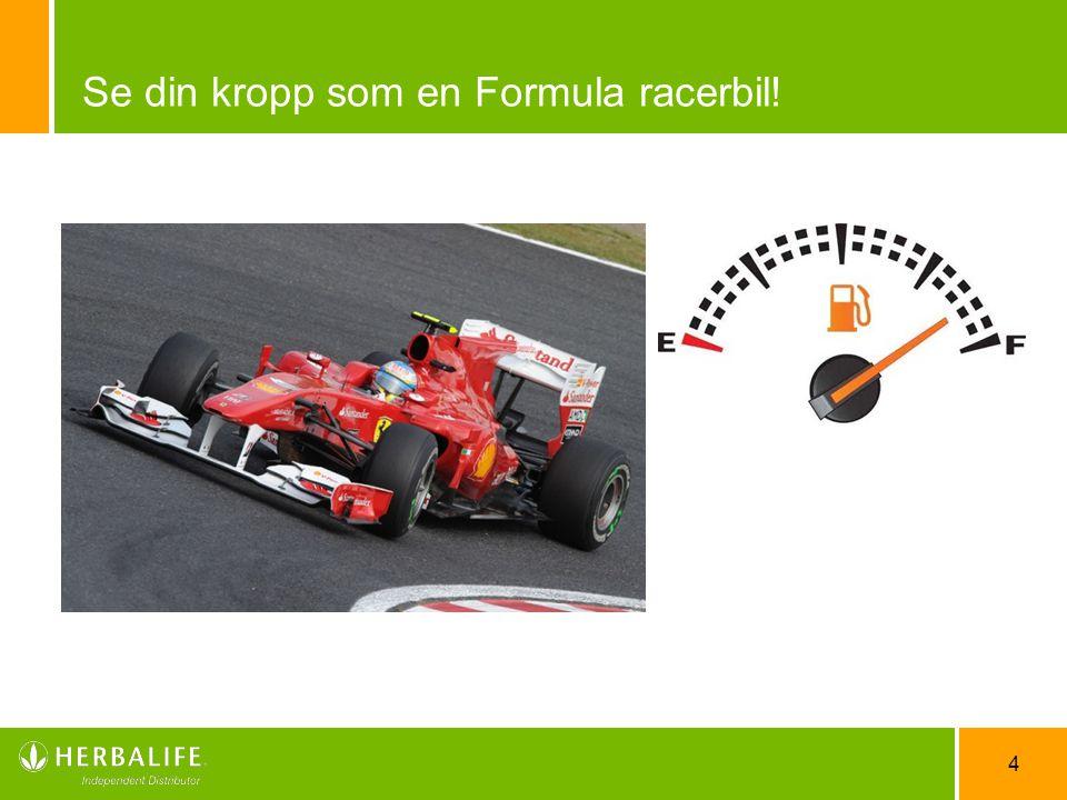 Se din kropp som en Formula racerbil!