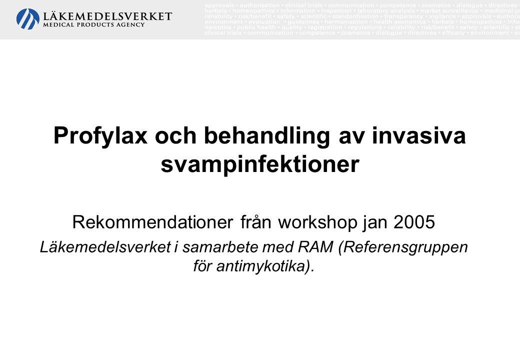 Profylax och behandling av invasiva svampinfektioner