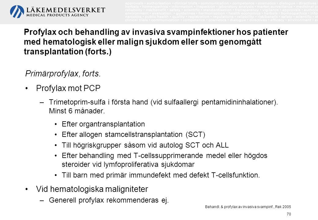 Vid hematologiska maligniteter