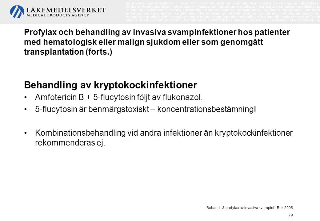 Behandling av kryptokockinfektioner