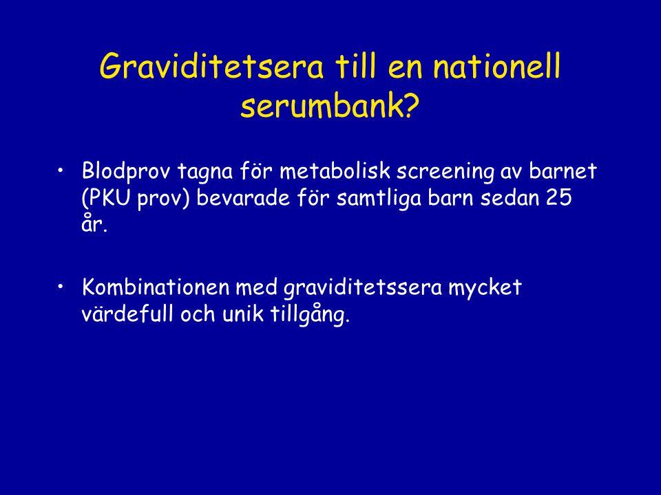 Graviditetsera till en nationell serumbank