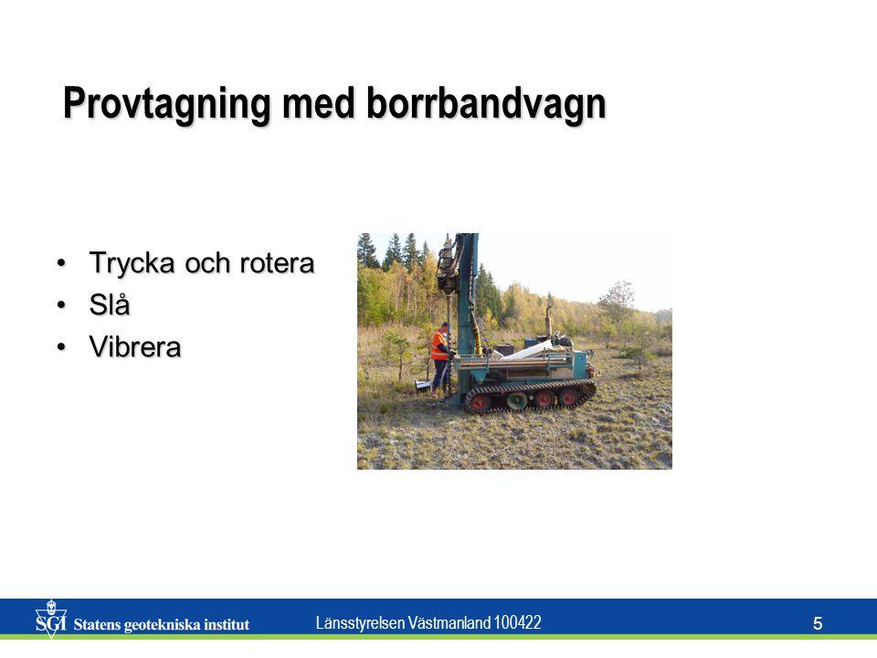 Provtagning med borrbandvagn