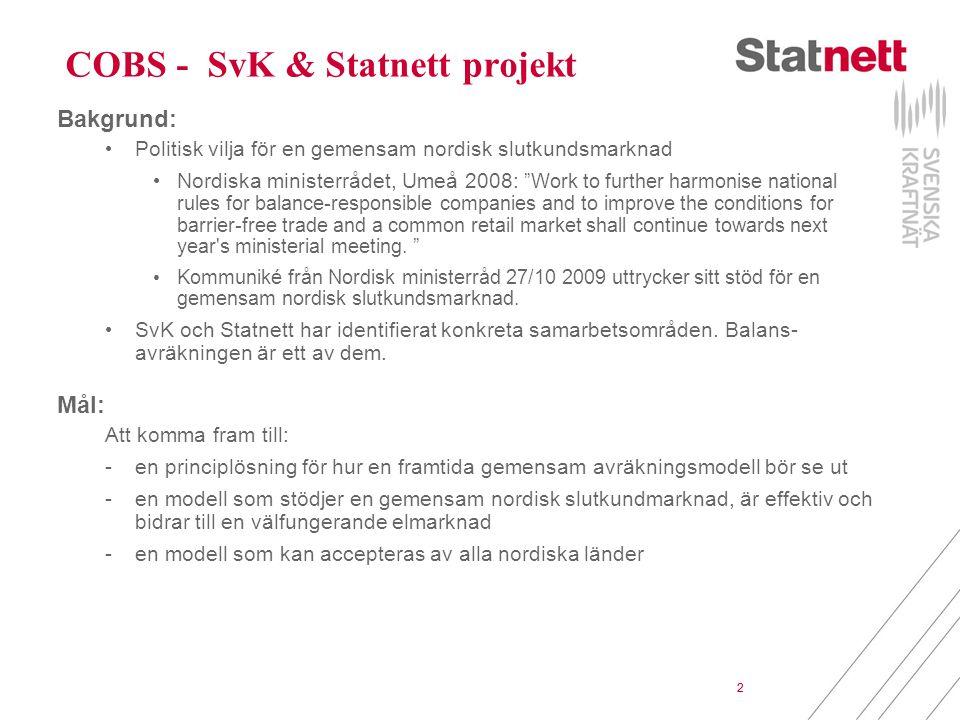 COBS - SvK & Statnett projekt
