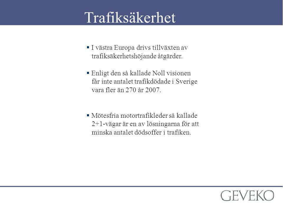 Trafiksäkerhet I västra Europa drivs tillväxten av