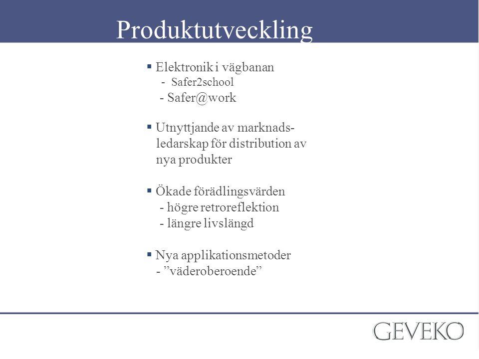 Produktutveckling Elektronik i vägbanan - Safer@work