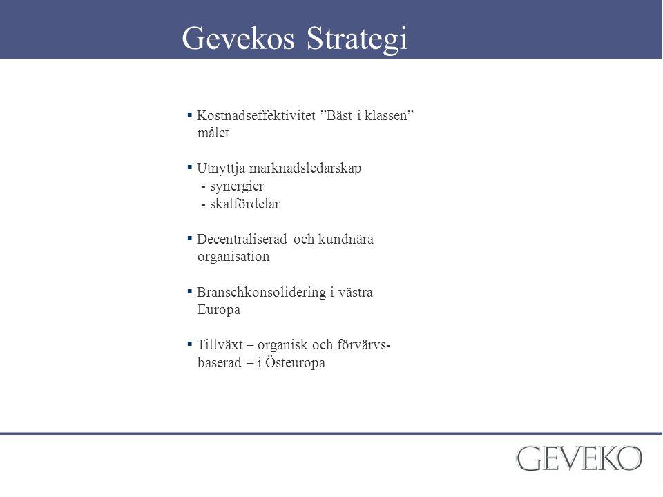Gevekos Strategi Kostnadseffektivitet Bäst i klassen målet