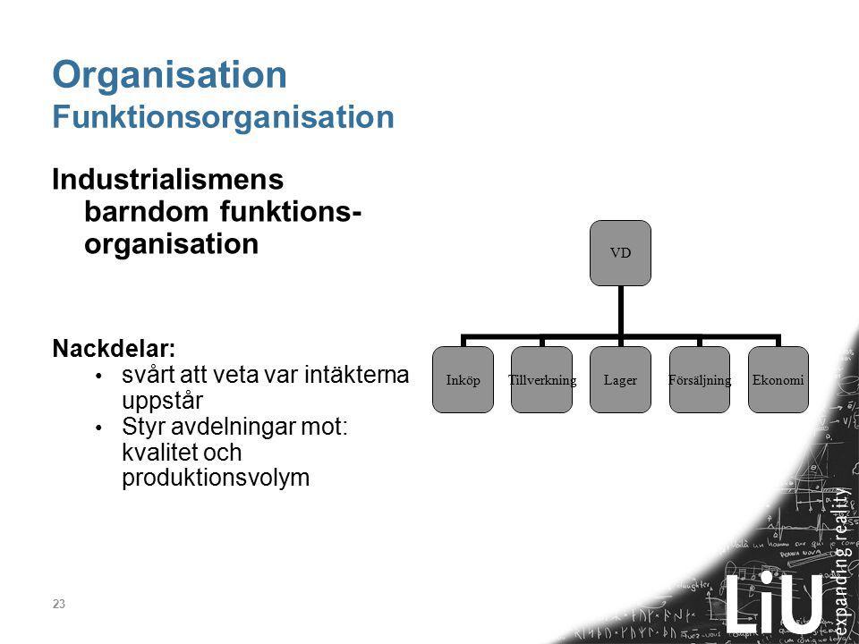 Organisation Funktionsorganisation