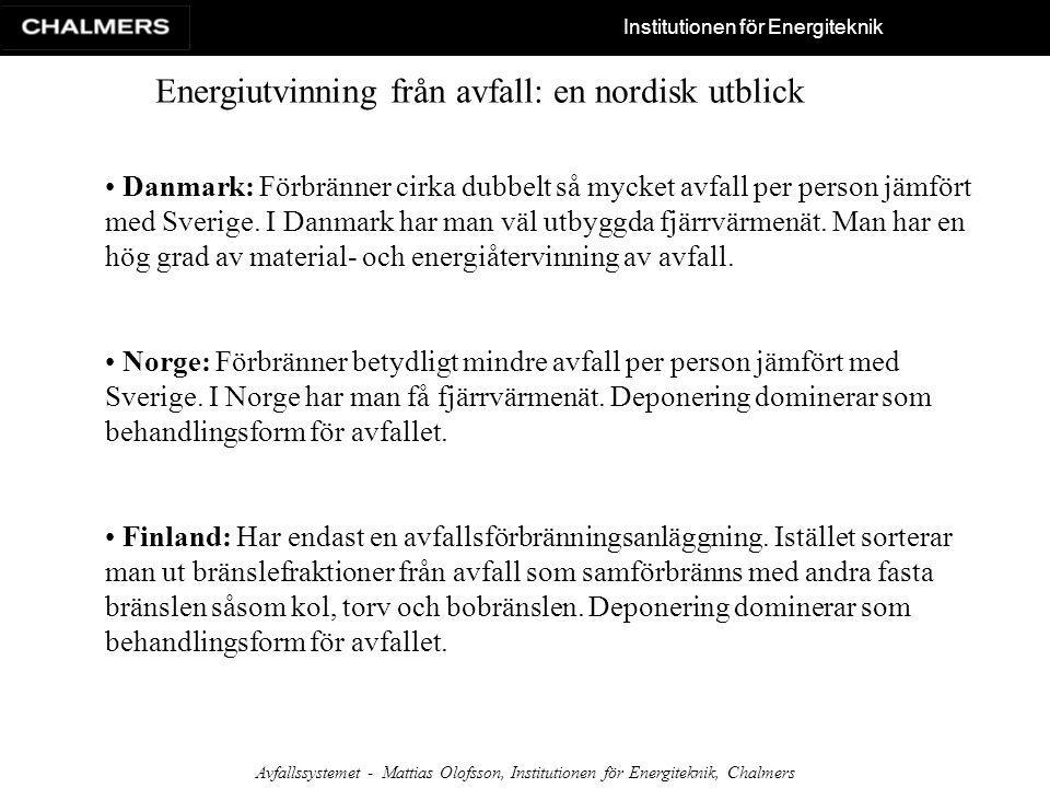 Energiutvinning från avfall: en nordisk utblick