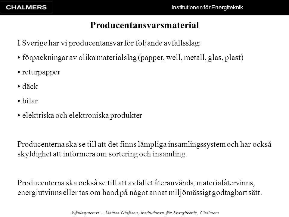 Producentansvarsmaterial