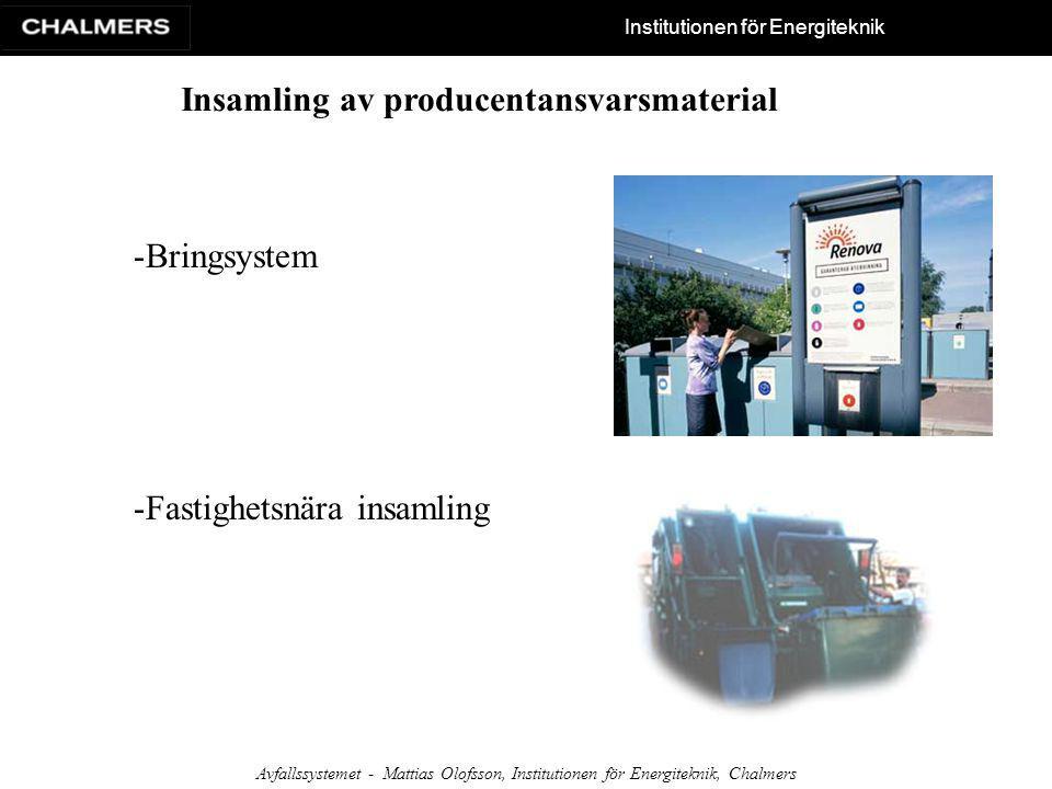 Insamling av producentansvarsmaterial