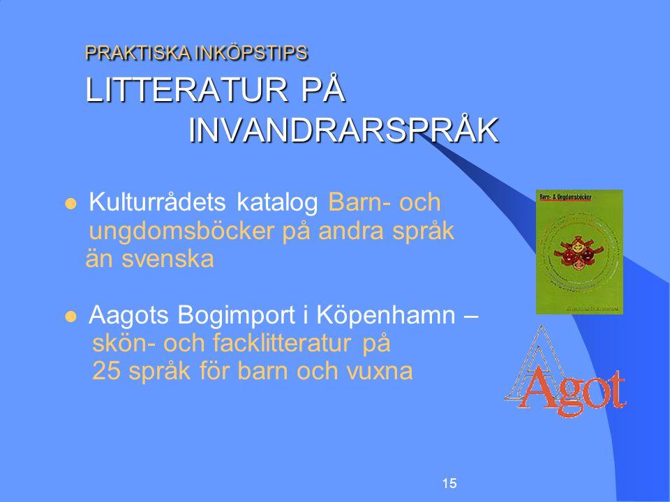PRAKTISKA INKÖPSTIPS LITTERATUR PÅ INVANDRARSPRÅK
