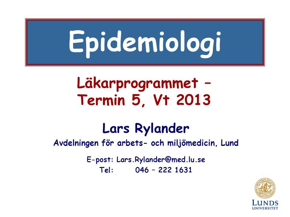 Läkarprogrammet – Termin 5, Vt 2013