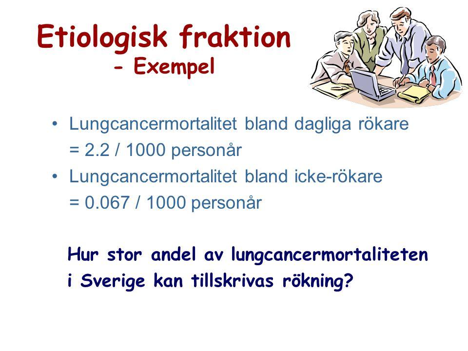 Etiologisk fraktion - Exempel