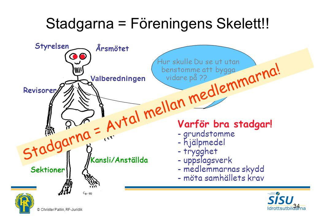 Stadgarna = Föreningens Skelett!!