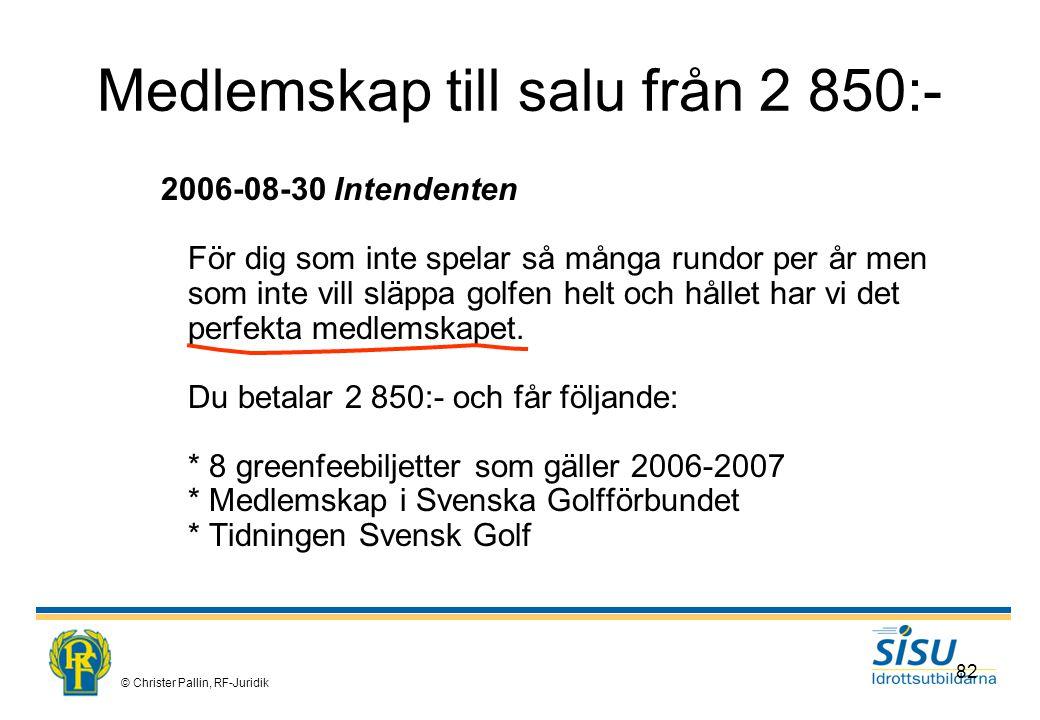 Medlemskap till salu från 2 850:-