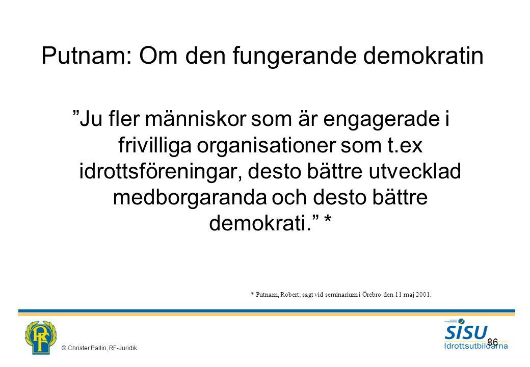 Putnam: Om den fungerande demokratin