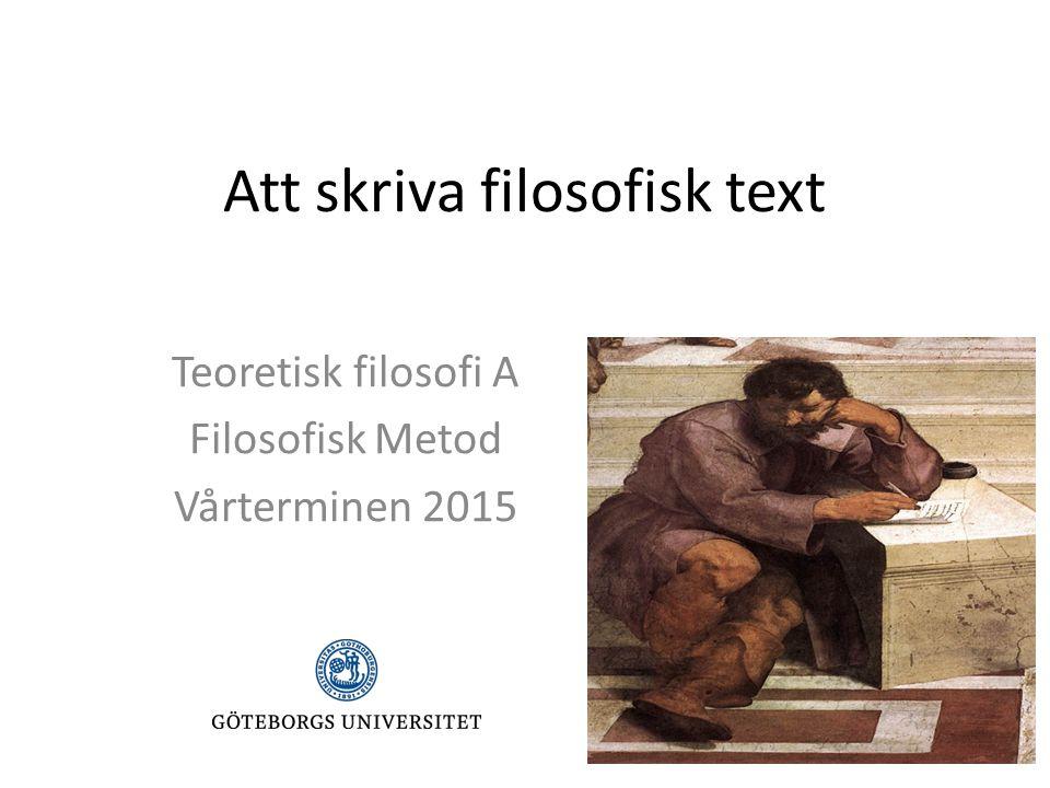 Att skriva filosofisk text