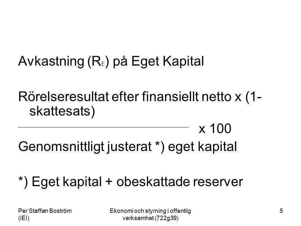 Ekonomi och styrning i offentlig verksamhet (722g39)