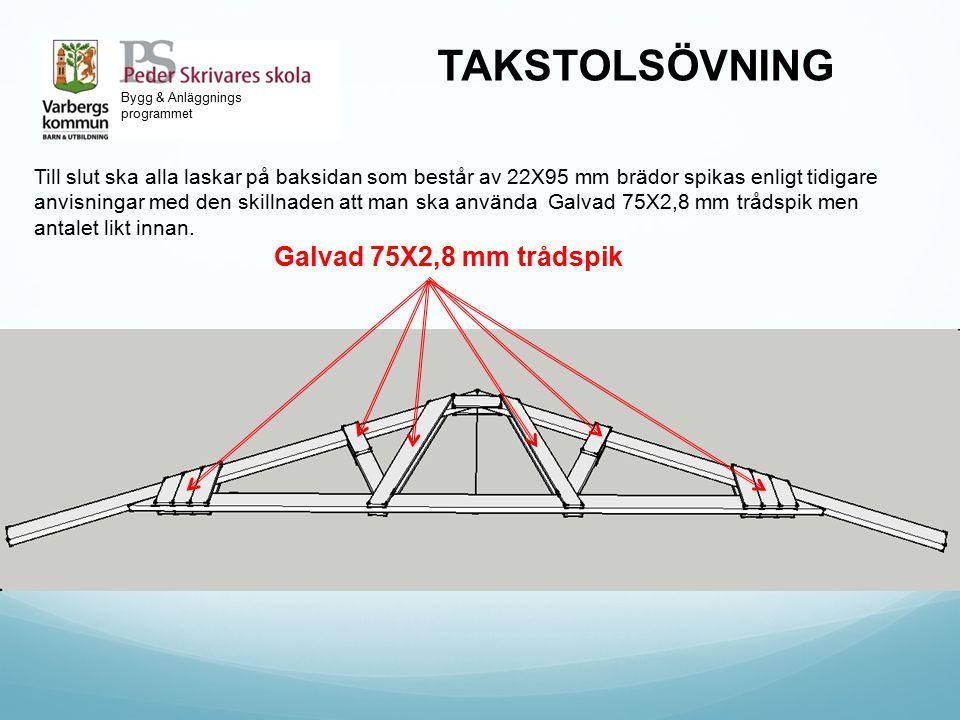 TAKSTOLSÖVNING Galvad 75X2,8 mm trådspik