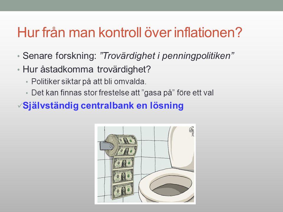 Hur från man kontroll över inflationen
