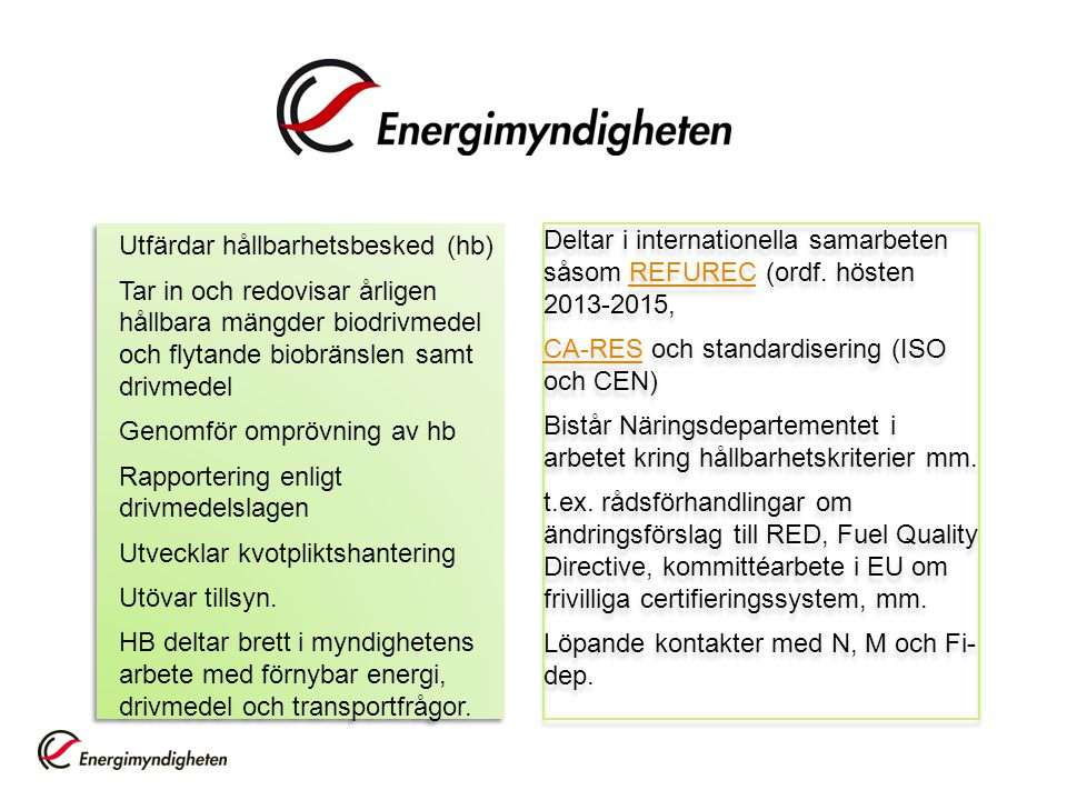 Utfärdar hållbarhetsbesked (hb)